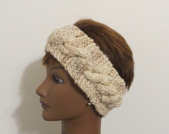 Ear Warmer Headband Hat BFL Wool and Alpaca Blend