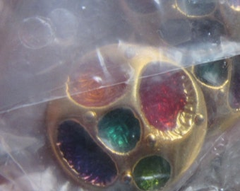 jewel style button set of 8