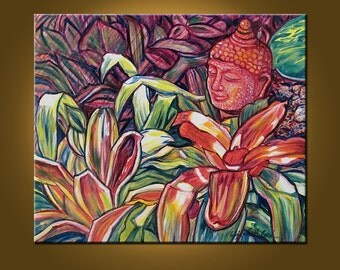 Splendid Buddha -- 20 x 24 inch Original Oil Painting by Elizabeth Graf on Etsy -- Art Painting, Art & Collectibles