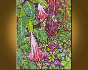 Florida Hammock -- 22 x 28 inch Original Oil Painting by Elizabeth Graf -- Art Painting, Art & Collectibles