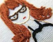 custom family portrait.hand embroidery.stitch portrait.custom embroidery.embroidered hoop art.stitch my family.dog portrait.custom portrait