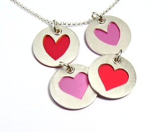 Hearts of Love Colorful Charm Pendant