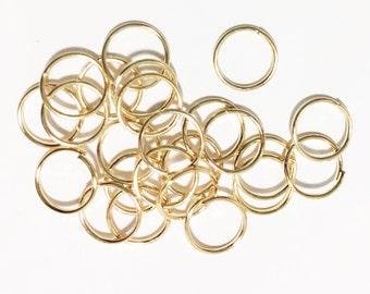 200 pcs of Gold plated jumprings 8mm 20 gauge, open jumprings, light gold jumprings