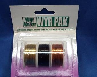 Wyr Knittr Wyr Pak, 30 gauge wire, Drama Tones, 3 spool pack