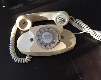 Vintage Off-White Princess Western Electric Phone with Adapter