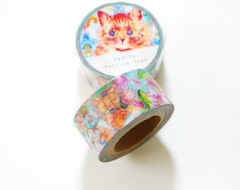 Louis Wain Cat Washi Tape • Kamito Masking Tape (CRM00705)