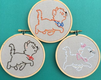 Aristocats Trio - Disney embroidery hoops