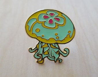 J is for Jellyfish - Enamel Pin