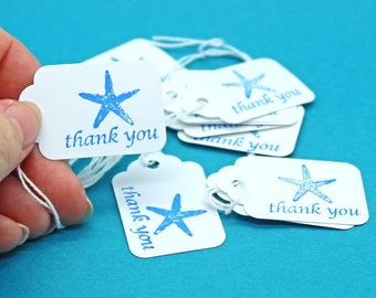Hang Tag, Starfish Thank You Hang Tag, Wedding Favor Tag, Price Tag, Small Hang Tag, Starfish Tag, Party Favor Tag