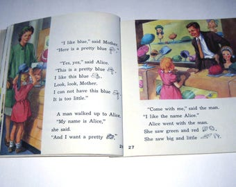 High on a Hill Vintage 1950s Alice and Jerry Children's School Reader or Textbook Alice and Jerry Basic Reading Program