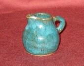 Mini Jug - Dollhouse - Miniature - Teal Turquoise Jade Stoneware #316 Free Shipping