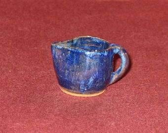 Mini Jug - Dollhouse - Miniature - Blue Stoneware #532 Free Shipping