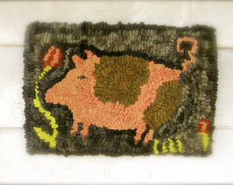 Charlotte Swine - rug hooking pattern - PDF - from Notforgotten Farm™