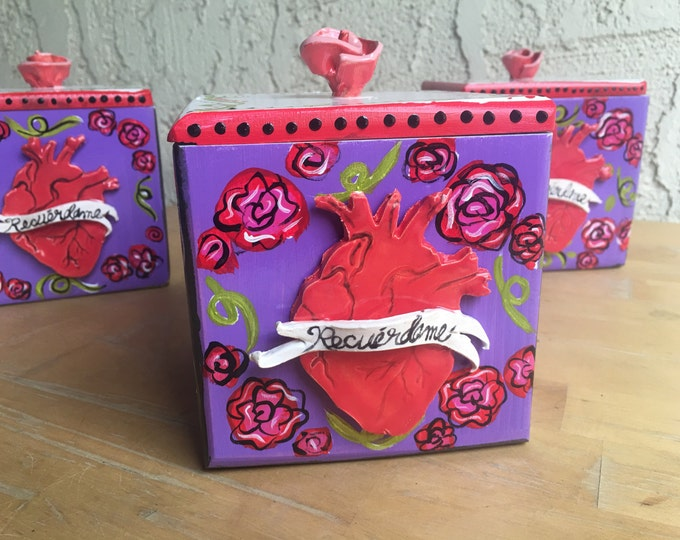 RECUERDAME Ceramic & Wood Box