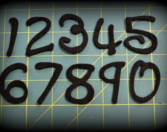 "1.5"" Advent Calendar COMPLETE SET 1 to 25 Felt numbers Curlz font - your choice  of color"