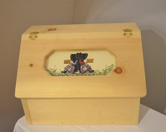 Amish Handcrafted Solid Pine Bread Box