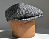 Men's Driving Cap in Vintage Harris Tweed - Harris Tweed Flat Cap - Men's Hat - Made to Order