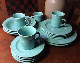 Turquoise Stoneware Lot Very Southwest Looks Like Fiestaware