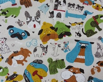 Cotton linen - Bull dog