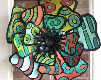 Spring Flower Door Decoration, Easter Door Decor, Easter bling, Mothers Day Gifts, spring door hanger