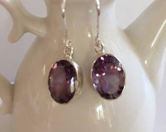 Amethyst Drop Earrings-Gemstone Earrings