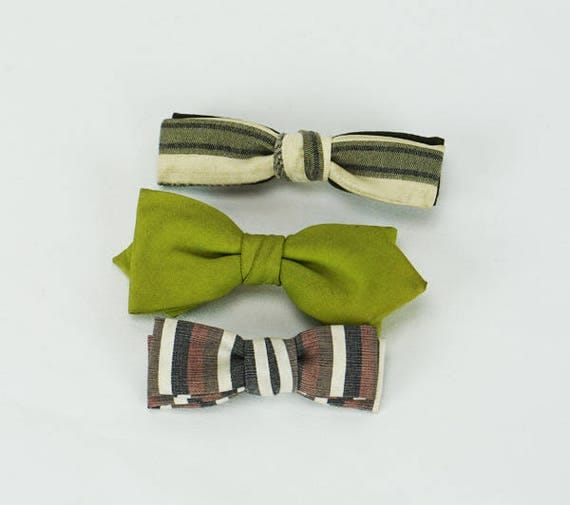 vintage 1950s 3 youth bow ties bowties point batwing