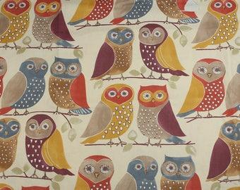 4596 - Night Owl Cotton Canvas Fabric - 55 Inch (Width) x 1/2 Yard (Length)