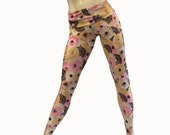 Yoga Pants - Workout Clothes - Hot Yoga - Donuts - Donut Pants - High Waist Pant - Fold Over - Legging - SXY Fitness - Handmade - USA -