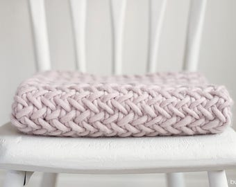 Thick and Textured Baby Blanket Photography Prop, Pearl, Basket Stuffer, READY TO SHIP Newborn Photo Prop