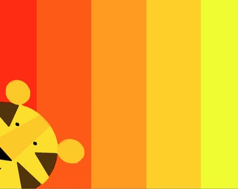 tiger screen  Art Print by Giraffes and Robots