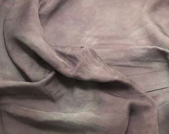 Hand Dyed PEARL GRAY Soft Silk Organza Fabric - 1/3 yard remnant