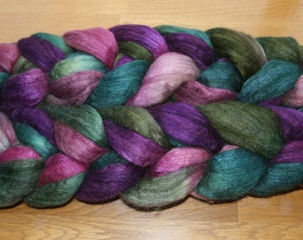 Polwarth Tussah Silk Spinning Fiber - 'Scenic Route'