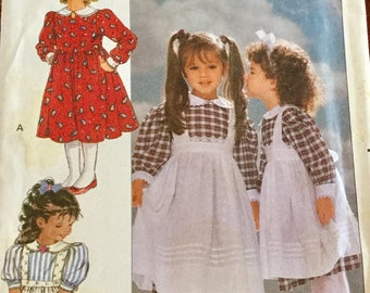 Butterick 4404 Girls Dress and Pinafore Pattern uncut Size 1-3