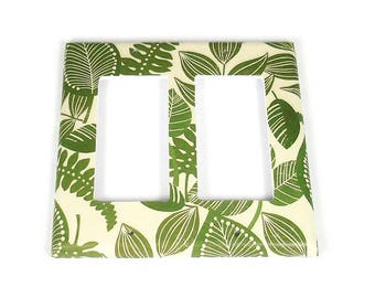 Double Rocker Switch Plate Light Switch Cover  in Rainforest   (206DR)