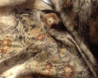 Silk Scarf Botanical Print Natural Dyes