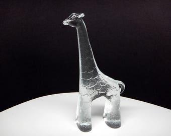"Large 9"" GIRAFFE Zoo Series KOSTA BODA from Sweden - Flat Back - Erik Hoglund - Bertil Vallien"
