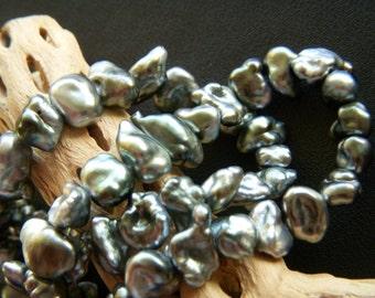 Natural Tahitian Keishi Pearls - Half Strand - 7 to 12mm - 9 Inches