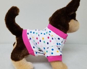 Dog Clothes Sweet Little Polka Dot Tshirt, Chihuahua, Yorkie