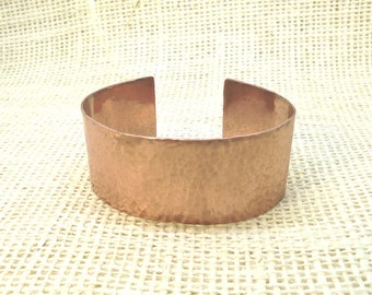 Copper Wide Bracelet, Cuff Bracelet, Copper Bracelet, Hammered Finish, Handmade, Wide Bracelet, Gift Idea, Him or Her, Gift Box, Copper