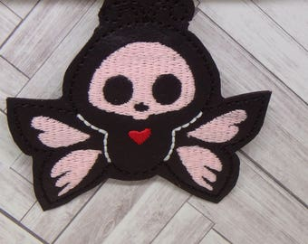 Glow Skeleton Butterfly key fob