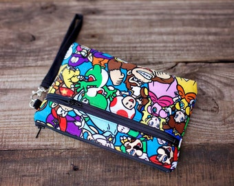 Super Mario Characters Wristlet with removable strap - Punk rock
