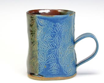 Blue And Brown Textured Mug
