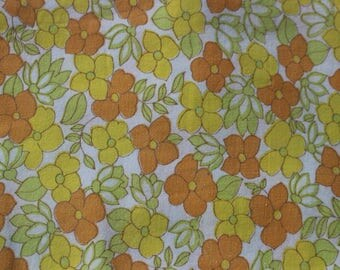 Retro orange floral bolster cover