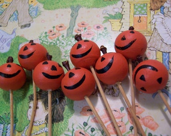 pumpkin head party picks