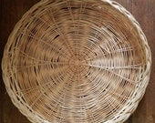 Vintage Woven Wicker Charger