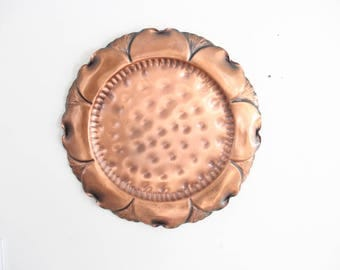 Large Copper Round Tray / Wall Hanging