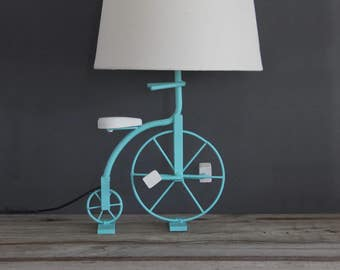 Turquoise Bike Bicycle Lamp