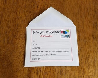Gift Voucher Gift Certificate Gift Card Mother's Day Gift Idea