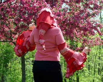 Strawberry Smoothie Small frankensweater gypsy elf sweater 70