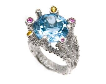 Platinum/Sterling Silver Sango Ring